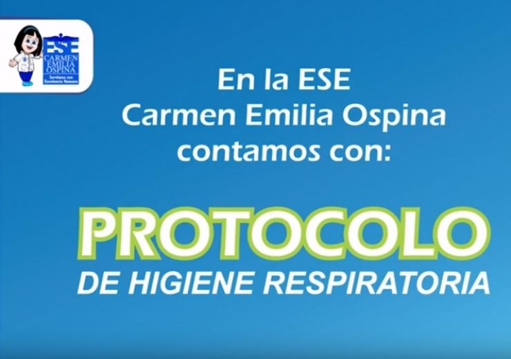 Protocolo para la Higiene Respiratoria