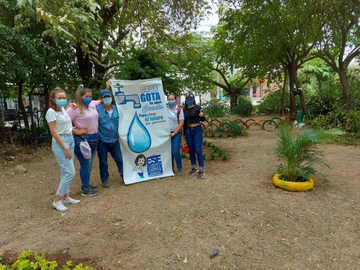 Nos unimos a jornada de limpieza y embellecimiento en el Barrio Santander
